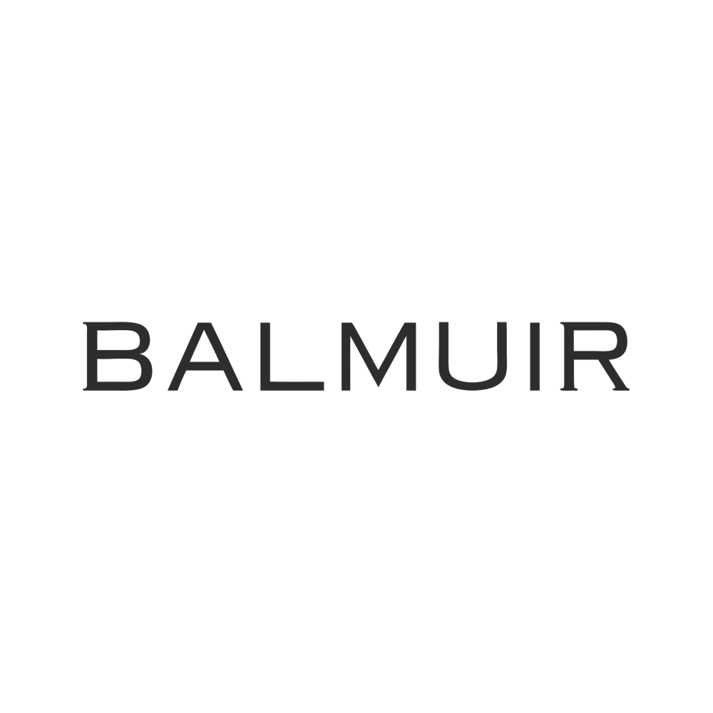 Balmuir beanie w stone logo, light camel melange