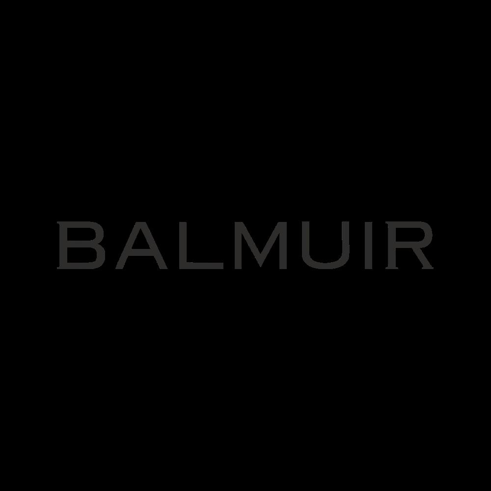 Evan tote ja Balmuir matkalaukun nimikortti