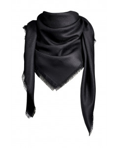Coco logo scarf w lurex, 140x140cm, black
