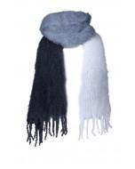 Anna kid mohair -huivi, 50x200cm, colour blocking blue