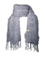 Aurora kid mohair -huivi 35x160cm, grey