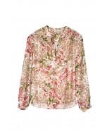 Madilyn silk blouse, XS-XL, floral print