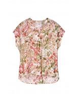 Minea-silkkitoppi, XS-XL, floral print