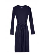 Edna rib dress, XS-XL, spelt