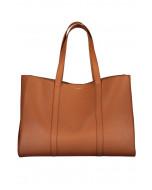 Ellie-laukku, nahka, cognac (konjakki)