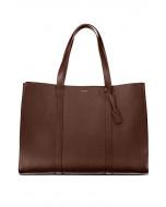 Ellie-laukku, nahka, ruskea/kulta