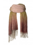 Elsie-huivi, 40x200cm, vihreä/viininpunainen