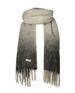 Elsie-huivi, 40x200cm, harmaa/musta