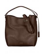 Eyleen bucket bag, nahka, ruskea