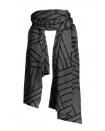 Helsinki-kashmirhuivi, 100x195cm, black lines