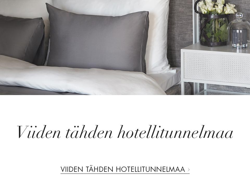 Viiden tähden hotellitunnelmaa